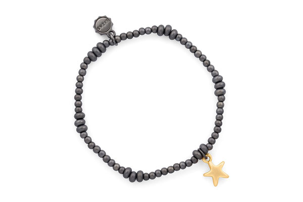 "Armband ""Metall Star"", dark grey/gold € 18"