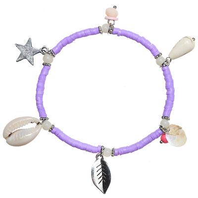 "Armband ""Sealife"" lila 16€"