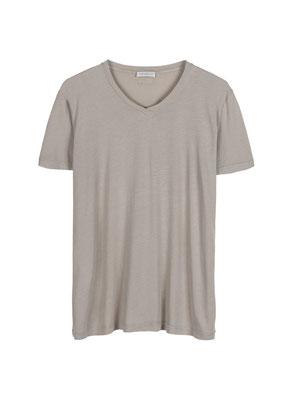 T Shirt aus 50% Cotton u 50% Modal Jersey in hellgrau XL und mattgrün L/XL 49€