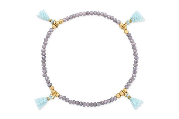 """Armband """"Lilac Dream"""" grey/lilac/aqua, 14€"""