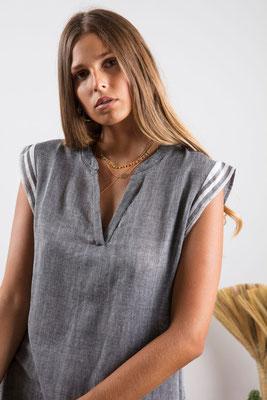 Dress Kelly, fouta grey, 90% Baumwolle, 10% Lurex, in Gr XS/S und M/L,  109€