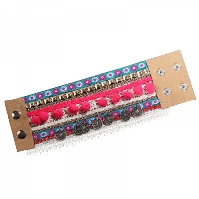 "Bracelet  ""Hippie Time"" pink 15€"