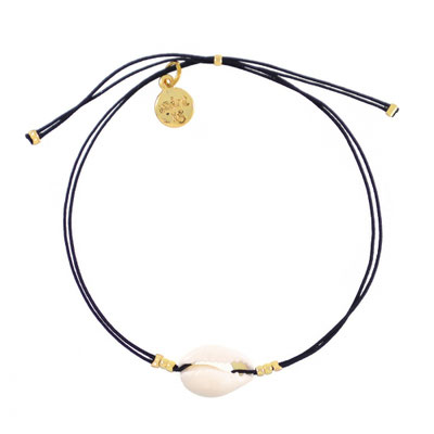 """Armband """"Mini Shell"""" black, in gold und silber, 14€"""