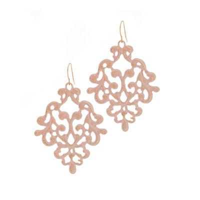 """Ohrringe """"Taj Mahal"""" pink/gold, 22€"""