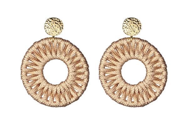"Ohrringe ""Calla"", beige/gold, 19€"
