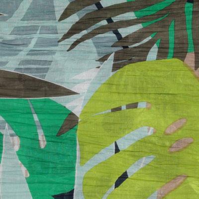 """Schal """"Estate"""", grün/limette, 100% Cotton, 100x180cm,   19,95€"""