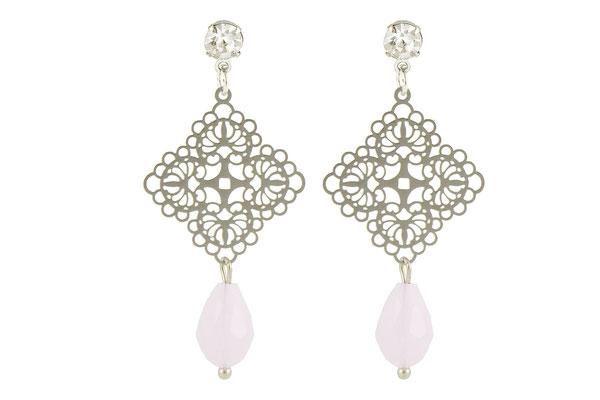 "Ohrringe ""Jeansgirl"" soft pink/silver, 18€"