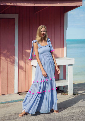 Dress Pippa light blue/red/pink in Size XS/S und M/L  159€