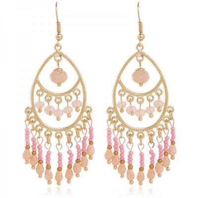 "Ohrringe ""Indian Sunset"" pink 24€"