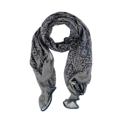 """Schal """"Print grey"""" ( in grey sold out) auch in navy erhältlich, 100% Viskose  34€"""