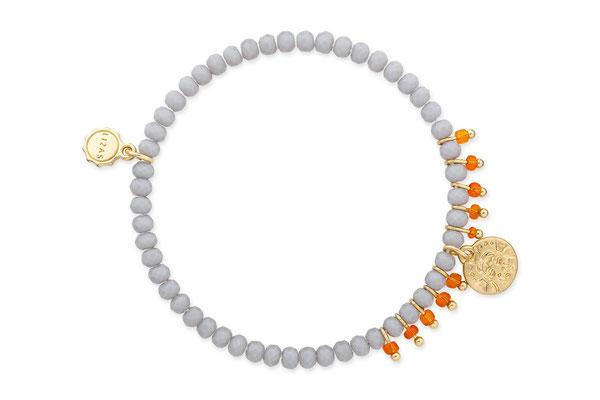 """Armband """"Holy Cow"""" grey/orange/gold 16€"""