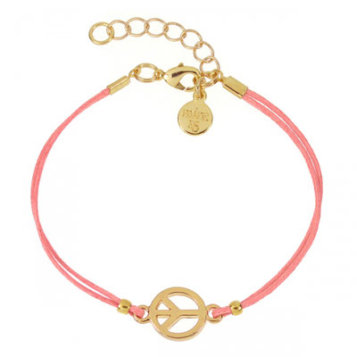 """Armband """"Peace"""" coral gold 14€ out of stock"""