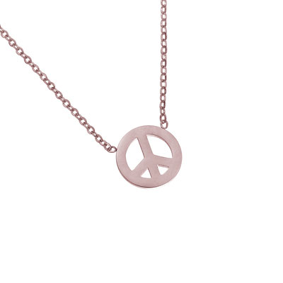 "Kette ""Peace"" rosegold 19€"