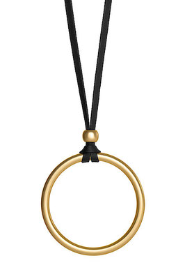 "Kette ""Big Circle"", black/gold, 26€"