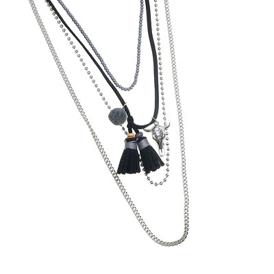 "Kette ""Buffalo in Layers"" silber/black 28€"