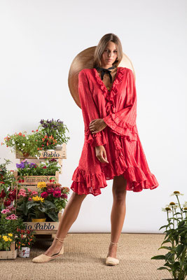 Dress Jasper, red, 100% Viskose, gefüttert, in Gr XS/S und M/L,  149€