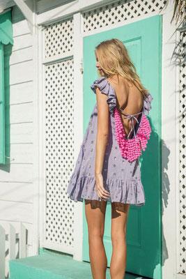 Dress Mimi bleuet jasmine/neon pink in Size XS/S und M/L   219€ on SALE -40%