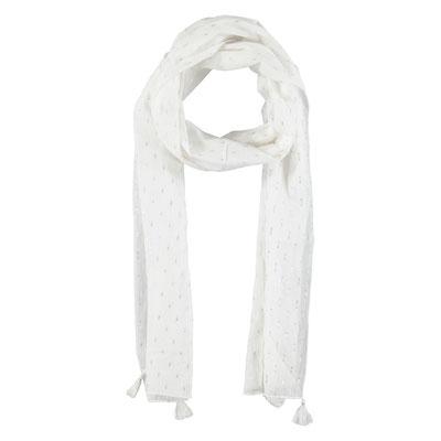 "Schal ""Summerbreeze"", white, 80% Cotton, 20% Metallic, 50x180cm,   16,95€"
