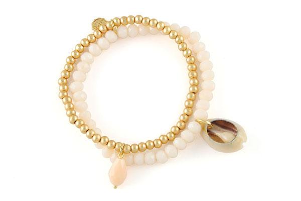 "Armband ""Classy Seashell"" beige 19€"