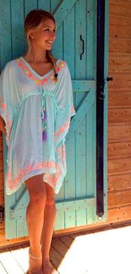 Dress Ethnique Square aqua, 75€ in size XS/S/M