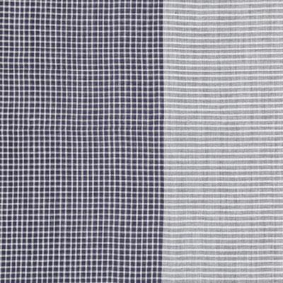 """Schal """"Karo"""", 100% Cotton, marine, 50x180cm, 24,95€"""