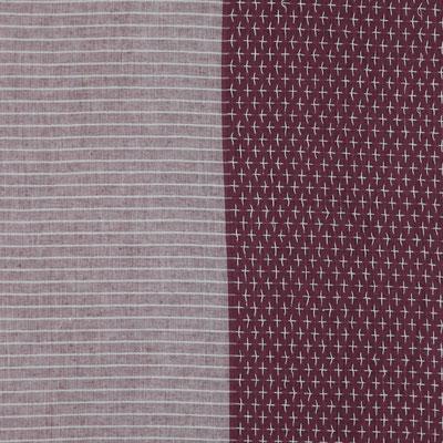 """Schal """"Mix"""" bordeaux, 100% Cotton, 70x180cm  19,95€"""