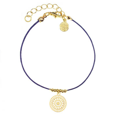 """Armband """"Boho Ornament"""" blue, in rosegold und silber, 14€"""