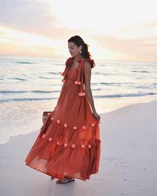 Dress Pippa Cinnamon/Flamingo in Size  M/L  159€
