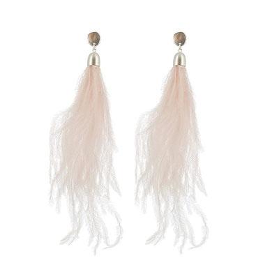 """Ohrringe """"Federspiel"""", soft pink/silber,   25€"""
