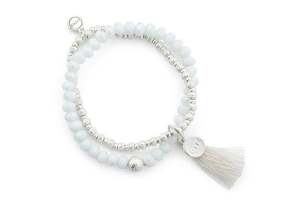 "Armband "" Fete Blanche"", white/silver 19€"