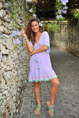 """Dress """"Nicole"""" erhältlich in lila, yellow und türkis, 100% Viskose, handmade   Gr S/M 139€"""