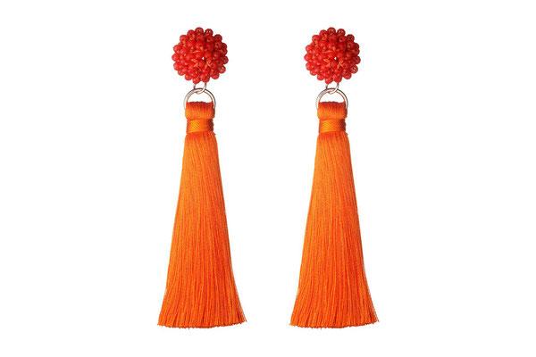 "Ohrringe ""Butterblume"" orange, 22€"