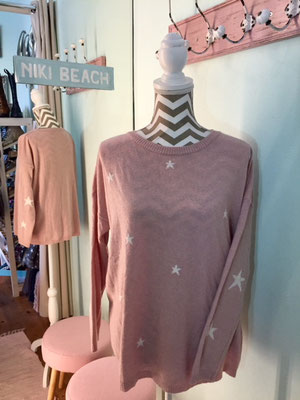 """Pulli """" Sternenhimmel"""", one size, soft pink/white 49,90€"""