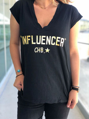 "T Shirt ""Influencer"", 100% Cotton, one size, black 39,90€"