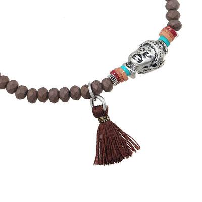 """Armband """"small Buddha"""" brown 14€ on SALE 9€"""