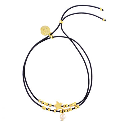 """Armband """"Collect the stars"""" black, in gold und silber, 14€"""