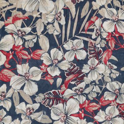 """Schal """"Hawai"""", marine, 100% Cotton, 50x180cm, 19,95€"""