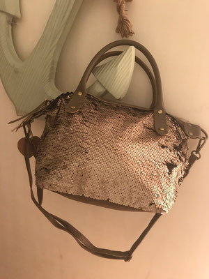 "Bag ""Paillettenlover"", taupe 49€"