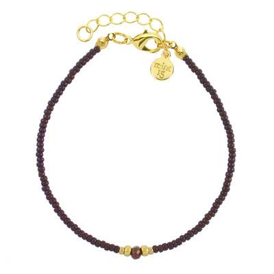 """Armband """"Diamond Bracelet"""" dark brown, in rosegold und silber, 14€"""