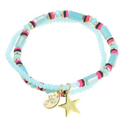 "Armband ""Starwrap"" türkis 19€"