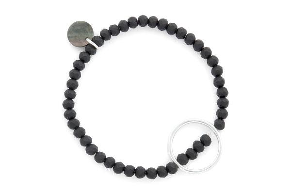 """Armband """"Circle"""" black/silver 18€"""