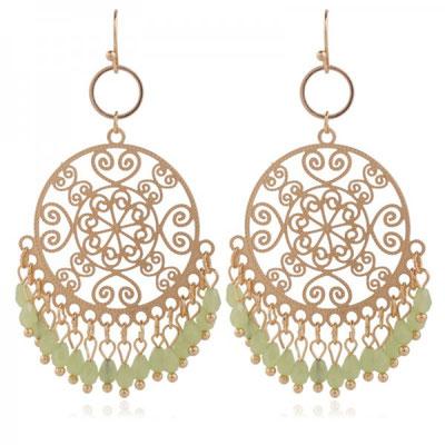 "Ohrringe ""Indian Dreams"" light green 25€"
