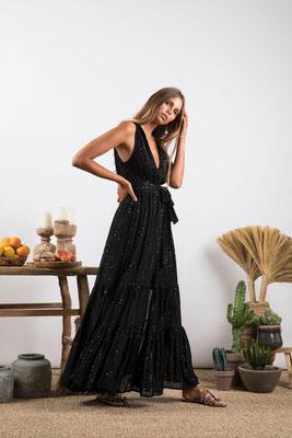 Dress Natalia black, 100% Viskose, gefüttert, in Gr XS/S und M/L  149€