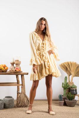 Dress Jasper, portofino yellow, , 60% Baumwolle, 30% Viskose, 10% Lurex, in Gr XS/S und M/L,  149€
