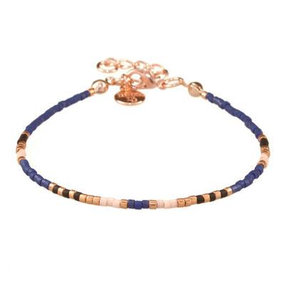 "Bracelet ""Delicate"" navyblue rosegold 12€"