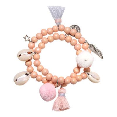 "Armband ""Surfergirl"" soft pink 19€"