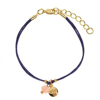 """Bracelet """"Rose Twinkle"""" navy blue in silber od rosegold 14€"""