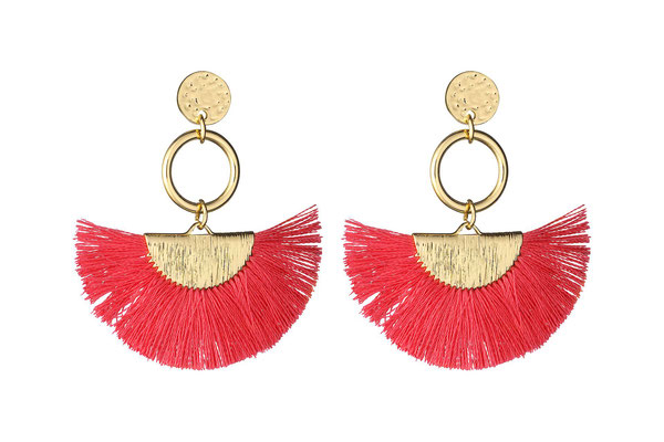 """Ohrringe """"Orchidee"""", coral/gold, 19€"""