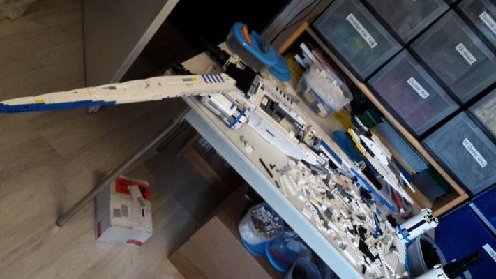 LEGO Star Wars U-Wing im Bau
