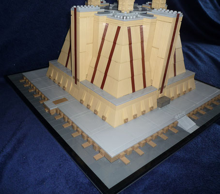 Lego Star Wars Jedi Temple in Architecture Styl Seitenansicht